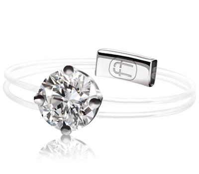 Alexander Fuchs bague diamant et fil nylon