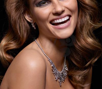 Collier Couture Précieuse Diamants Taille Poire Piaget.