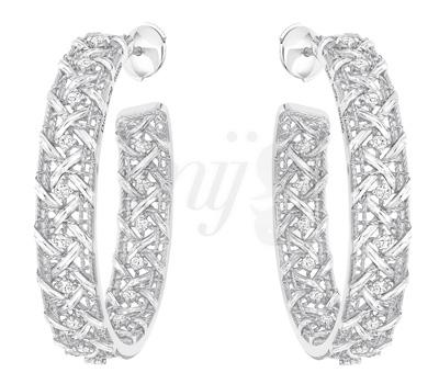 Créoles My Dior Diamants Or Blanc Dior Joaillerie