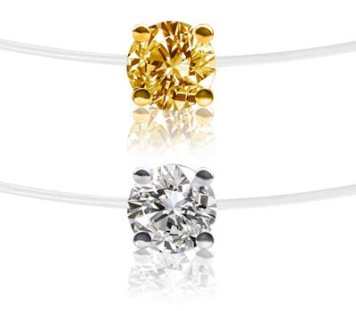 Diamant sur un fil de nylon transparent