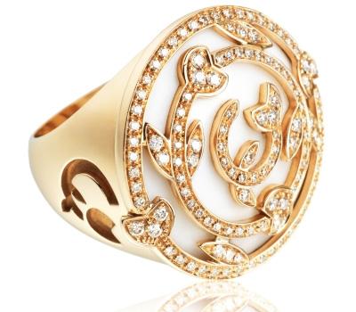 Chevalière femme or et diamants d'IO & ES