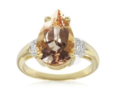 Bague Or et Diamants Morganite - Juwelo