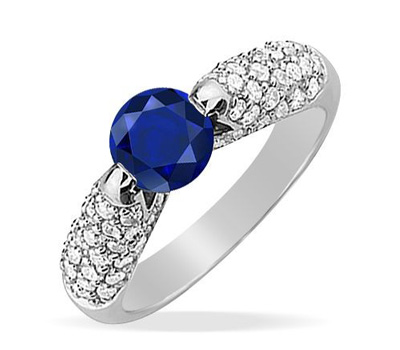 Bague saphir 2 carats or Edendiam