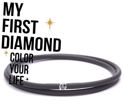 Bracelet Black for Men de My First Diamond