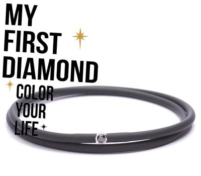Bracelet Black for Men de My First Diamond