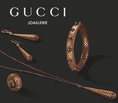 Bijoux Diamantissima en or rose de Gucci Joaillerie