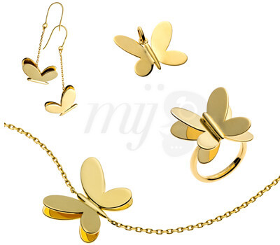 Bijoux Papillons Or Jaune - Arthus Bertrand
