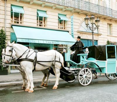 Calèche Tiffany & Co à Paris