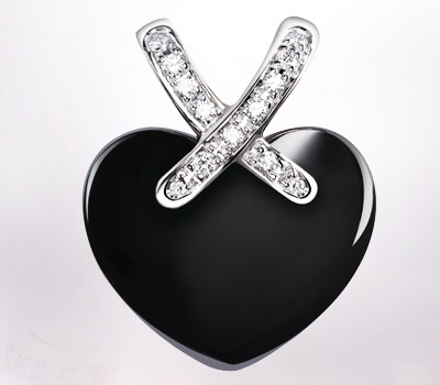 Pendentif Coeur Liens céramique de Chaumet
