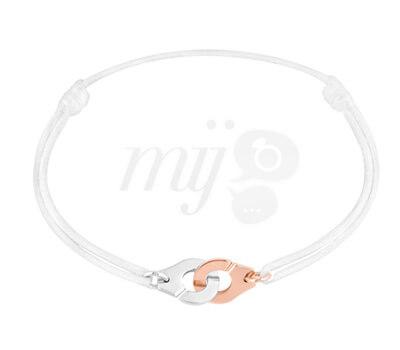 Bracelet Menottes Dinh Van Or Rose et Argent