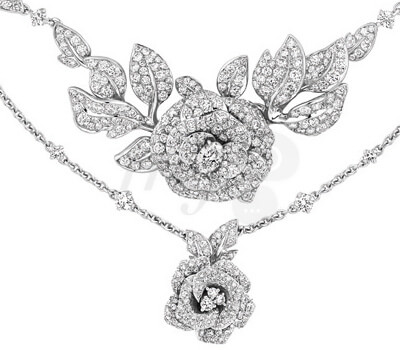 Collier Rose Dior Bagatelle Diamants