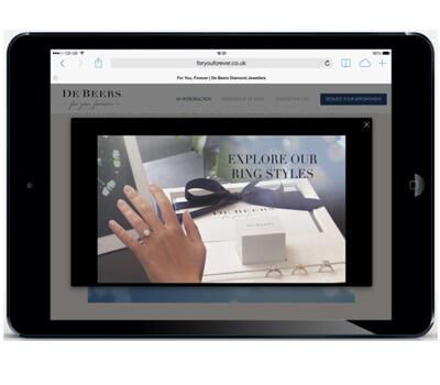 Bagues de fiançailles De Beers sur iPad