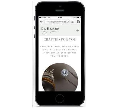 Bague de fiançailles De Beers sur iPhone