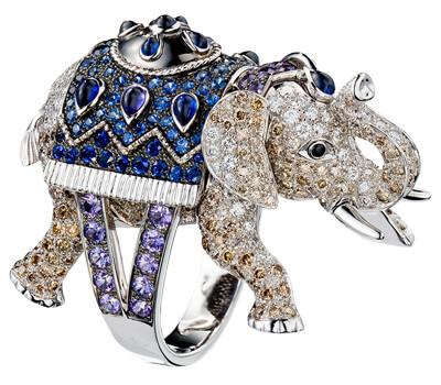 Bague élephant Hathi haute joaillerie de Boucheron