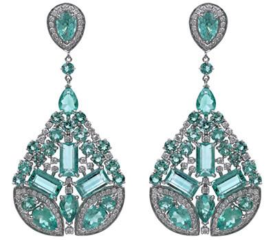 Boucles d'oreilles émeraudes de Gaydamak Jewellery