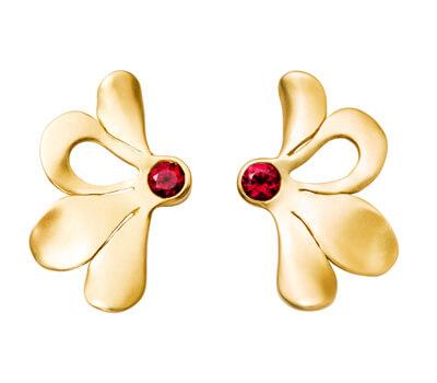 Boucles d'oreilles Pétales rubis d'Aimée Aimer
