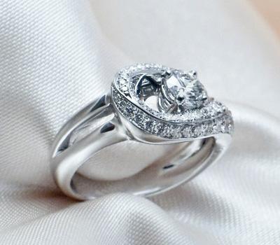 Bague de Fiançailles Or Blanc Diamants - Noémie Briand