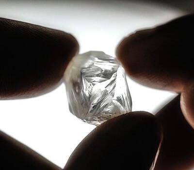 Photo d'un diamant brut