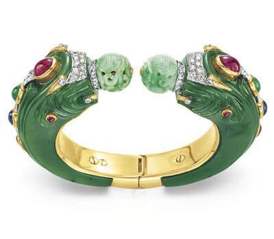 Bracelet dragon en jade