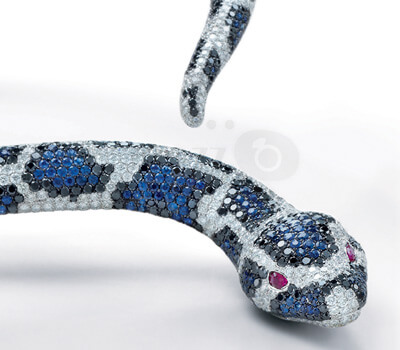 Cobra Royal diamants - Roberto Coin au Peninsula