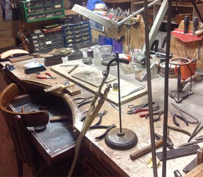 Établi pour le métier de bijoutier