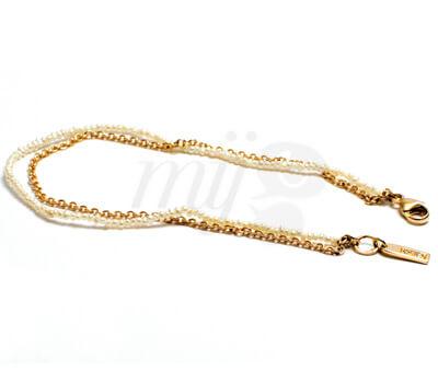 Bracelet La Discrète en Or Rose18K , Perles Fines et Diamants - Noémie Briand