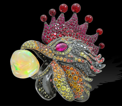 Bague Rooster Coq - Lydia Courteille