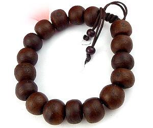 Bracelet Bouddhiste en bois pour homme.