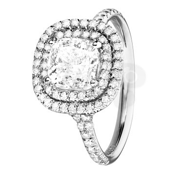 Bague Diamant entourage - RENÉSIM Joaillerie