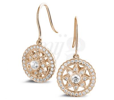 Boucles d'Oreilles Diamant Or Rouge - Baunat
