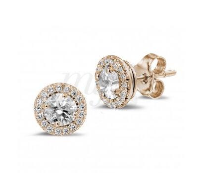 Boucles d'Oreilles Entourage Diamants - Baunat