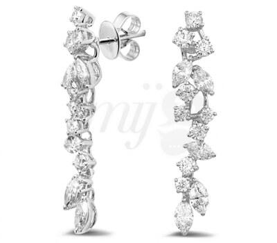 Diamants Rond Marquises - Boucles d'Oreilles Baunat