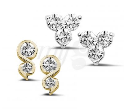 Puces d'Oreilles Diamants - Baunat