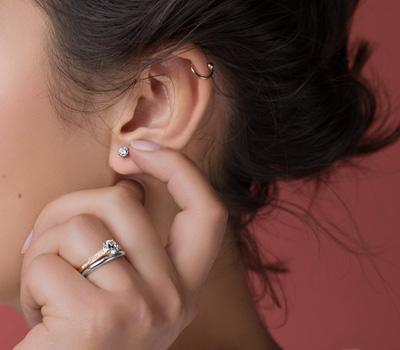 Boucles d'oreilles diamants par Breidal